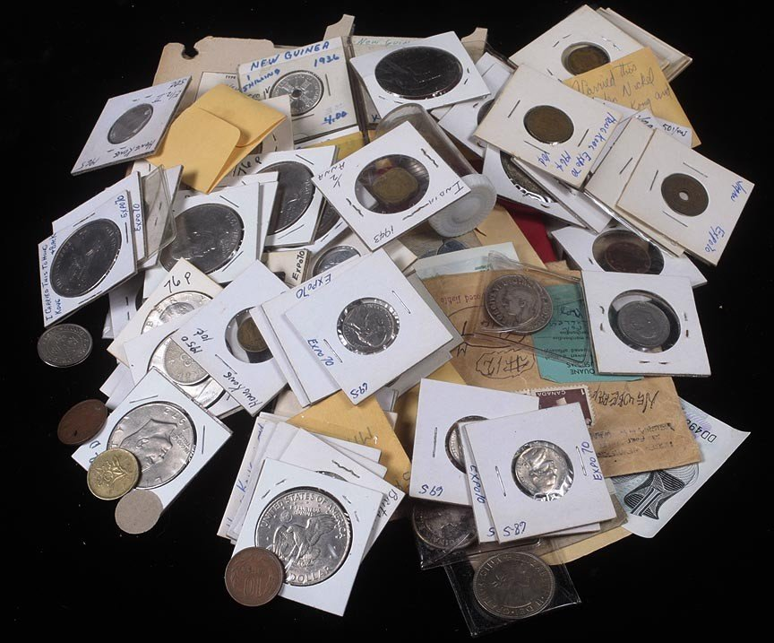 78. Large lot of foreign and domestic coins