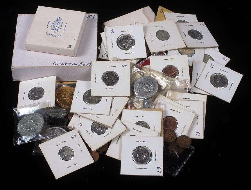 83. Canadian lot with medallions and currency