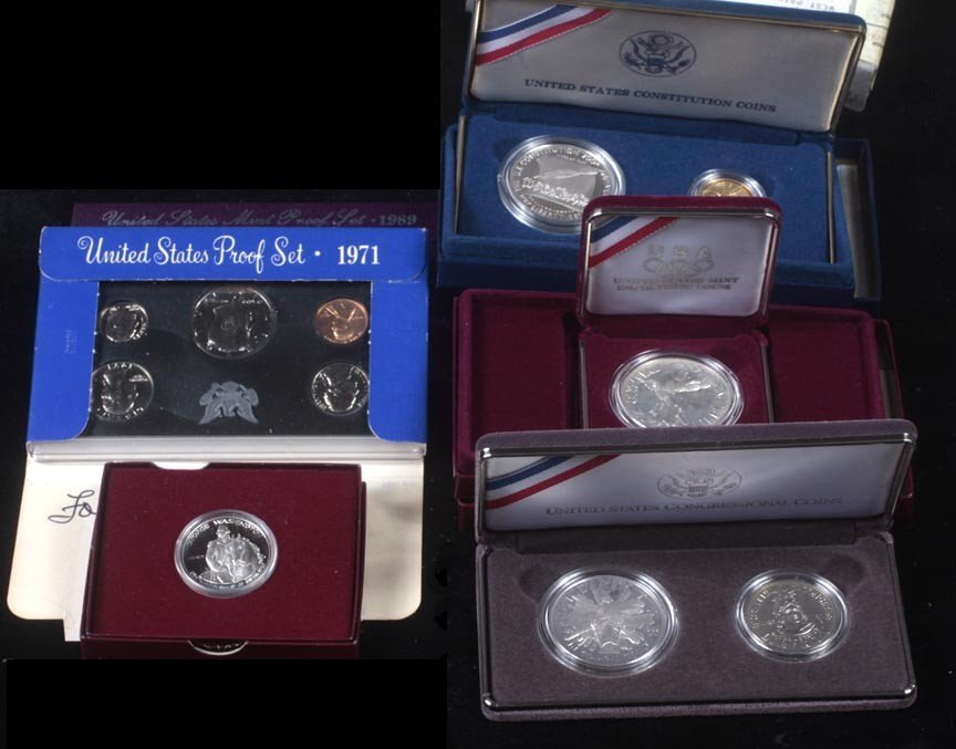 84. 1987 and 1989 constitutional proof set, 88 Olympic
