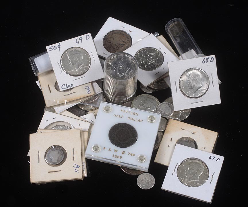 89.1869 Pattern Half  lot of U.S. type coins, Columbian