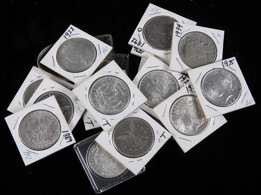 95.Silver dollars and  foreign silver