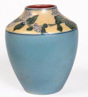 2: 2. Rookwood Vellum Vase 1920  Sarah Sax