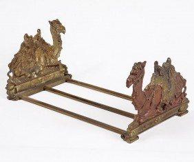 4: 4. Camel Bell Bronze book ends