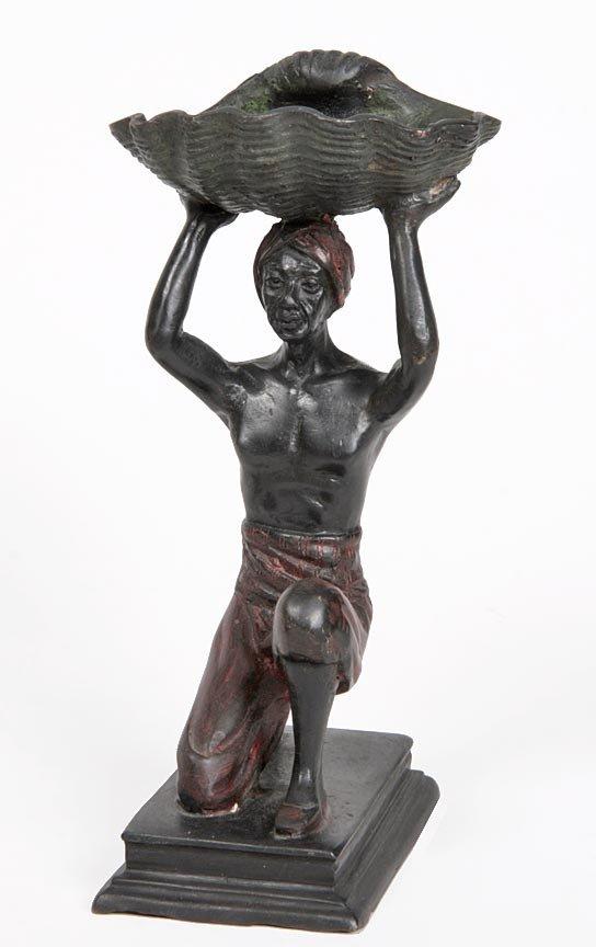 """5: 5. Bergman Blackamore Bronze-Dated 1872, 9"""" x 4"""" x 4"""
