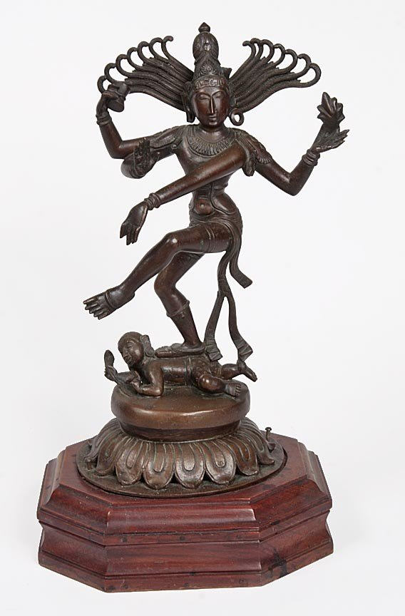 12: 12. Bronze Hindu Goddess, early 20th Century, origi