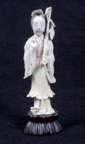 "16: 16. Carved Ivory, Circa 1930, 5"" x 1"" x ¾"", $100-$3"