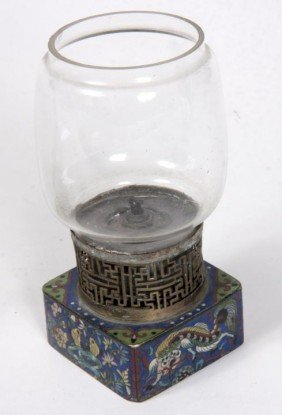 24: 24. Collection of  Four Opium Lamps, one with clois