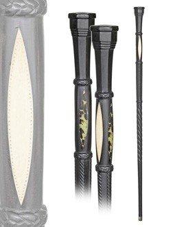 9: Marine Wood Cane-Single piece ebony cane with a subs