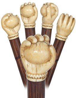10: Marine Ivory Cane-English, first half of the 19th C