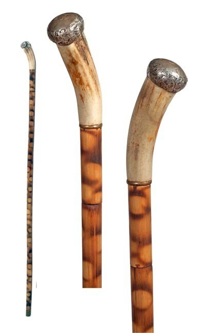 78: 78. Asian Sword Cane-Early 20th Century-Stag handle