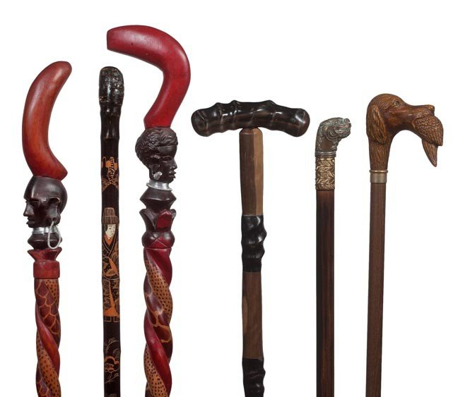 261: 261. A group of Various Canes