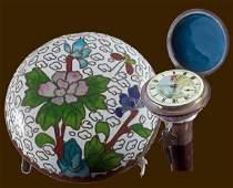 160 Cloisonn Watch Cane20th CenturyA Chinese cloiso