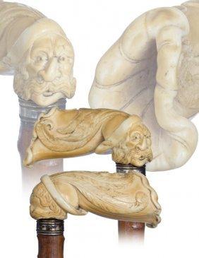 15. Ivory Erotic Cane-English, Late 19th Century-Iv