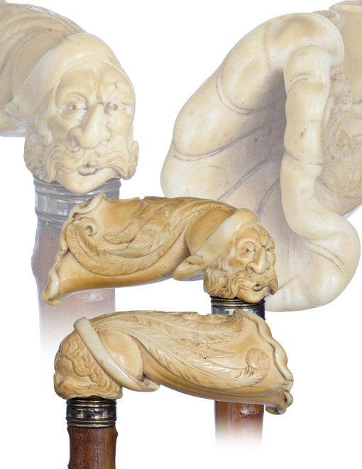 15: 15. Ivory Erotic Cane-English, late 19th Century-Iv