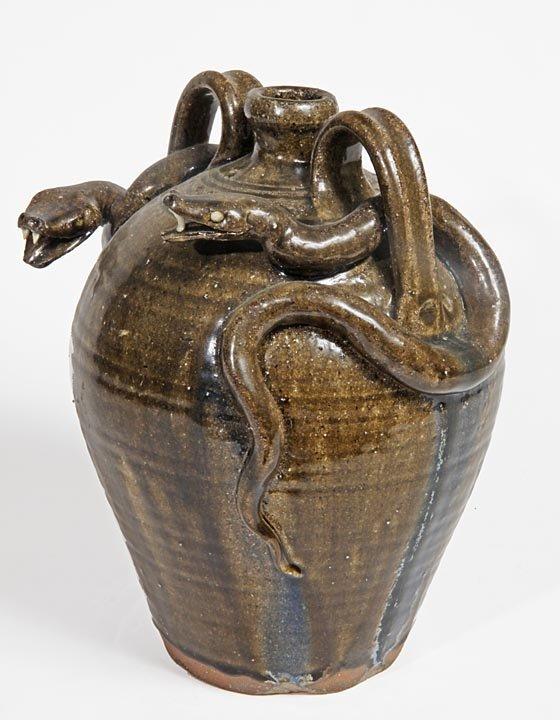 Southern Folk Pottery-A.V. Smith-Alkaline glaze double