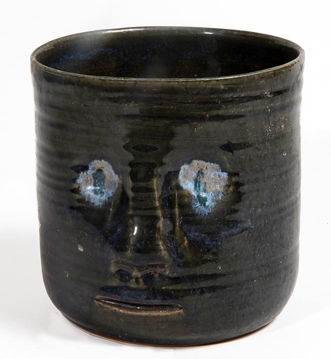 Southern Folk Pottery-Marjorie Hawthorne-Wide mouth fac