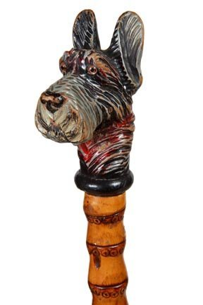 14. Carved Dog Glove Holder-Ca. 1930-A large carving of