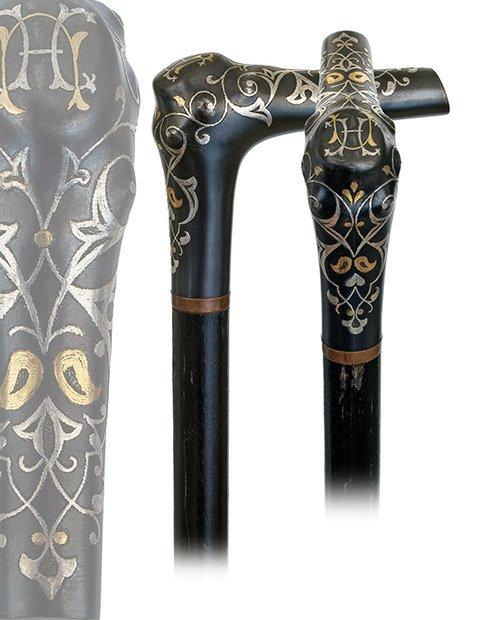 8. Toledo Dress Cane-19th Century-L-shaped steel handle