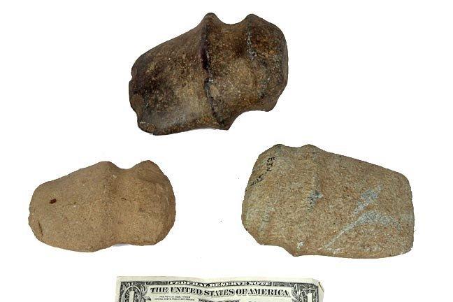 Three stone axes, Native American