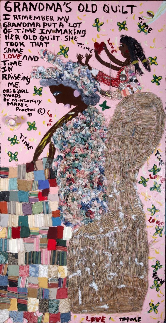 "Mary Proctor-"" Grandmas Old Quilt"". Outsider Art"