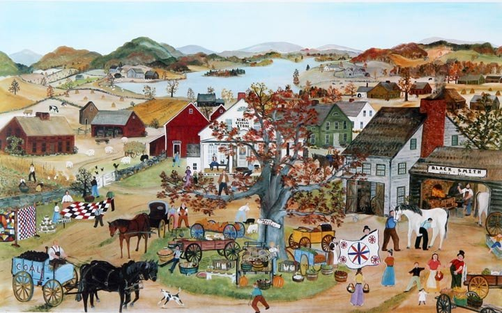 "Will Moses, ""Farmers Market"", Print 112 of 500, signed,"