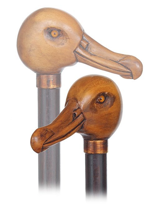14. Albatross Day Cane-Ca. 1920-Boxwood albatross head