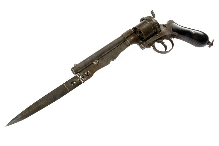 Knife Gun-European- Approximate  10 mm, pin fire, needs