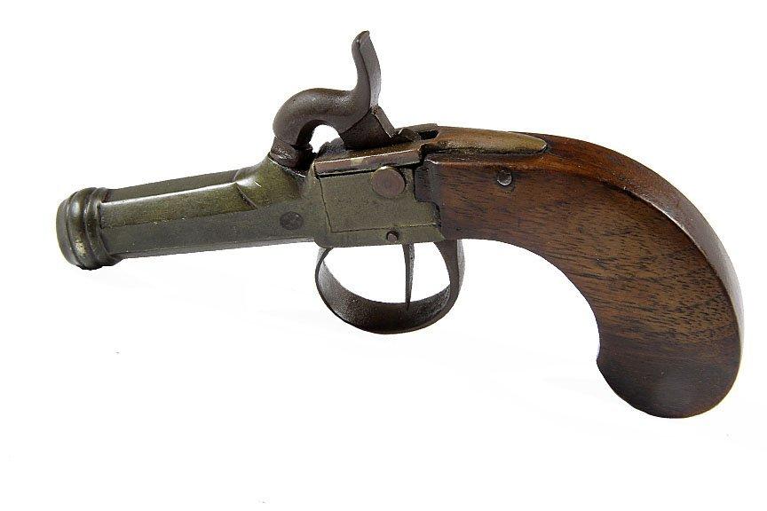 """Cannon Barrel Boot Pistol- Approx 44 cal, 2"""" barrel"""