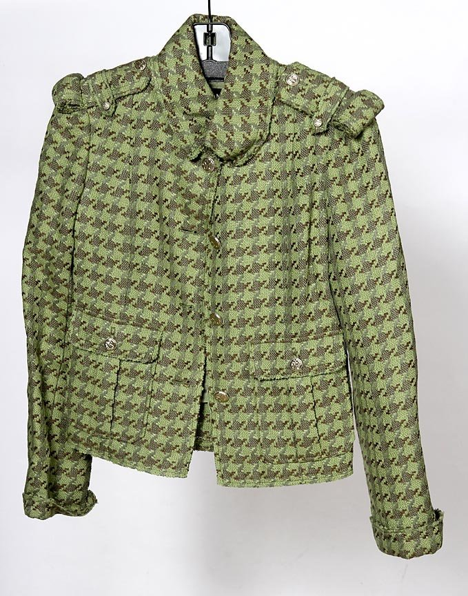 Chanel-Silk, linen and cotton blend jacket with