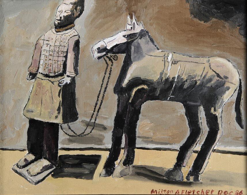 Outsider Art - Milton Fletcher-Untitled-Paint on