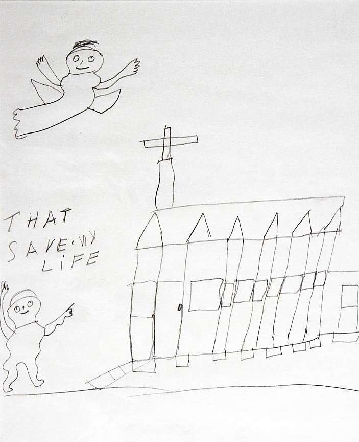 Outsider Art - Willie Jinks-That Save My Life-Pencil on