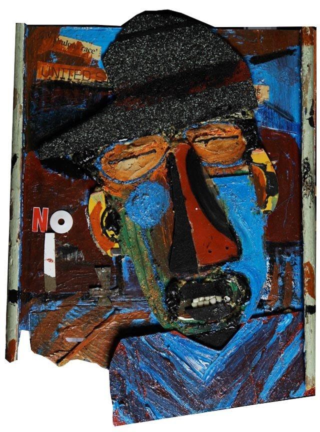 Outsider Art - Leroy Johnson-Saw For Art-Mixed media,