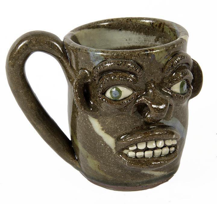 Outsider Art - Joe Reinhart-Face Mug-Glazed ad fired