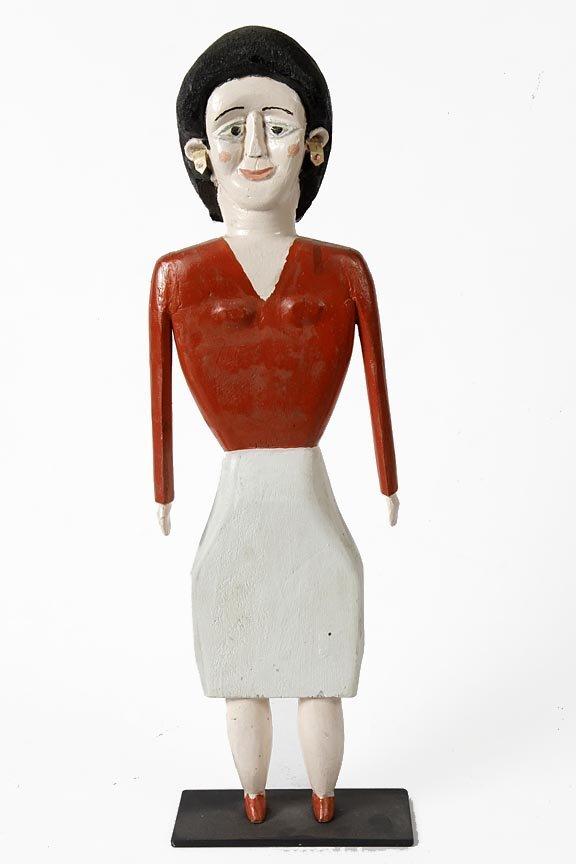 Outsider Art - George Williams-Woman-Paint on wood