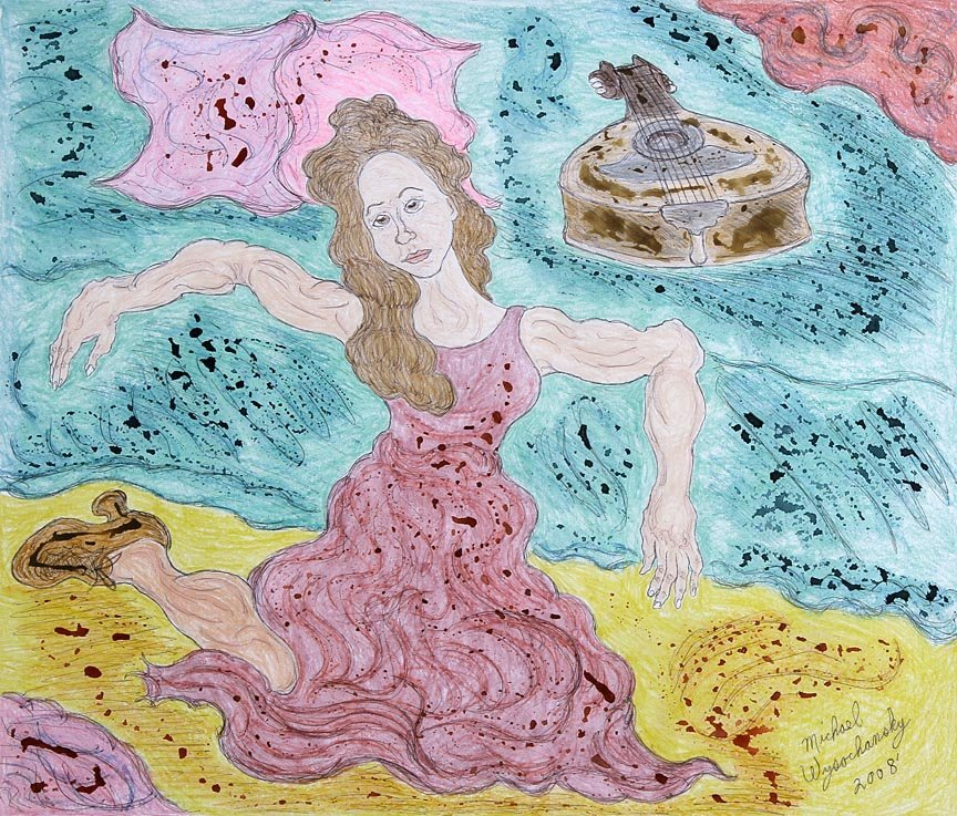 Outsider Art - Michael Wysochansky-Young Woman by the