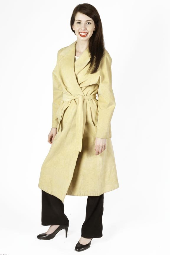 Stanley Sherman long suede duster type cloak with belt