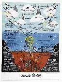 """Outsider/Folk Art-Howard Finster """"Not of This World""""."""