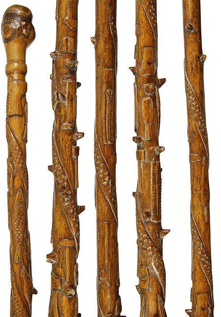 18. American Folk-Art Cane- Late 19th Century- A nice