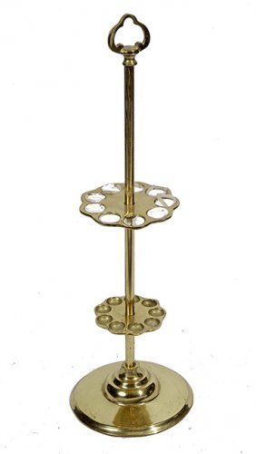 210. Brass Cane Stand- 20th Century- A Solid Cast Cane