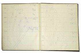 219. Cane Designers Original Drawings Binder Book
