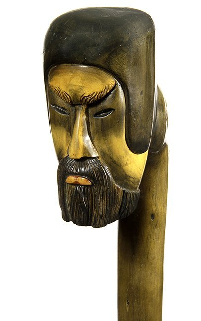 5. Johnny Winter Cane-20thCentury- A massive carved