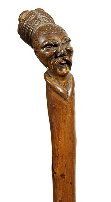 23. Johnny Winter Chinese Cane-Ca. 1890- A one piece