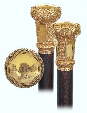 15. Superior Gold American Presentation Cane-dated