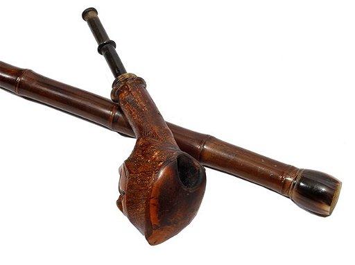 5  Tobacco Pipe Folk Cane- Ca  1890- A briar pipe - Jun 18, 2016