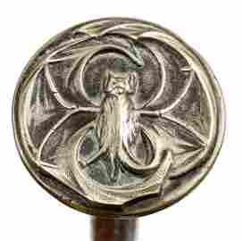 18. Art Deco Bat Cane- Ca. 1920- An unusual .800 silver