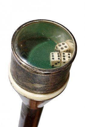 19. Gamblers Dice Game Cane- Ca. 1900- A Nice Example