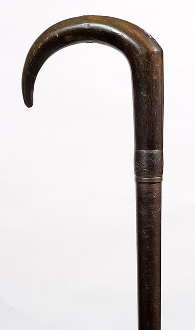 22. Gun Cane- A horn handle which has a fancy engraved