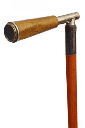 64. Bird Watcher's Telescope Cane- Early 20th Century-