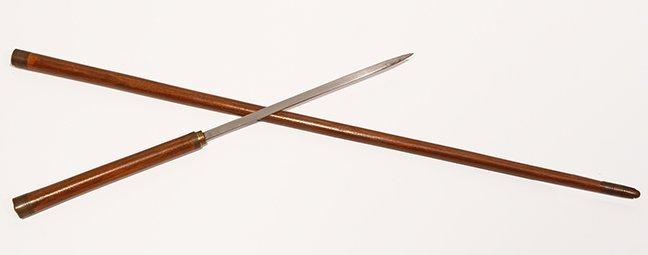 14. Sword Cane- Ca. 1920- An interesting hardwood