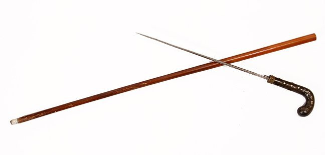 19. Fancy Sword Cane- Ca. 1850- A most unusual horn